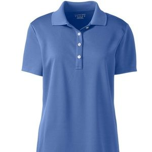 Lands'End Short Sleeve Solid Active Polo Size L